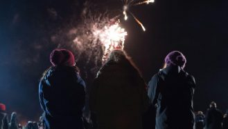 Fun with friends at Tring Fireworks 2018
